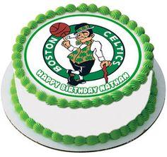 Boston Celtics Edible Cake Topper & Cupcake Toppers – Edible Prints On Cake (EPoC)