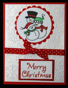 USE SWISS DOT CARDSTOCK STRIPE - AND USE A BLANK PIECE OF CARDSTOCK ON THE BOTTOM - USE SNOWFALL EMB ON TOP   JR