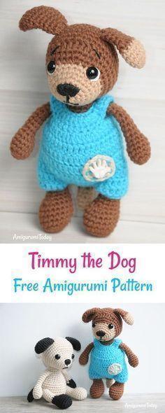 Free Amigurumi Dog Crochet Patterns | Crochê livre, Brinquedos de ... | 590x236
