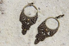 macramé earrings by MAYSSARABoutique on Etsy
