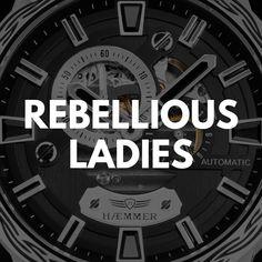 Entdecken Sie jetzt die Rebellious Uhrenkollektion von HÆMMER GERMANY! #Luxusuhr #Uhr #Watch #Frauenuhr #Damenuhr #Accessoires Ladies Watches, Adidas Logo, Lady, Luxury Watches, Woman Watches, Women's Watches, Watch Women