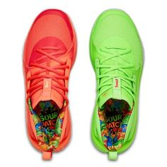 Steph Curry's obsession with Sour Patch Kids candy sweetens up the UA Curry 7 in two upcoming colorways. For more details on this Black Friday release, hit the link in our bio. Tenis Basketball, Girls Basketball Shoes, Volleyball Shoes, Hype Shoes, Buy Shoes, Me Too Shoes, Sneakers Fashion, Sneakers Nike, Fashion Outfits