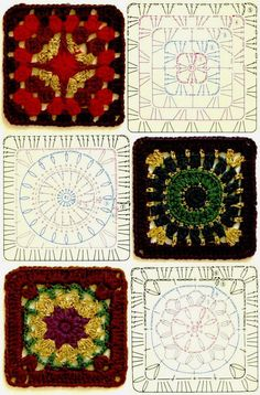Terrific No Cost Granny Squares Pattern diagram Tips This specific easy granny sq pattern is a variance about the basic crochet nana square. Granny Square Crochet Pattern, Crochet Diagram, Crochet Chart, Crochet Squares, Crochet Motif, Crochet Designs, Crochet Stitches, Granny Squares, Crochet Blocks