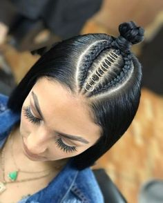 53 Box Braids Hairstyles That Rock - Hairstyles Trends Baddie Hairstyles, Box Braids Hairstyles, Straight Hairstyles, Girl Hairstyles, Hairstyle Ideas, Hairstyles 2018, African Hairstyles, Short Haircuts, Cool Braids