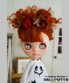 *** Custom Blythe *** HALLOWEEN ***  Buy her here:   #blythe #blythedolls #kawaii #cute #rinkya #japan #collectibles #neoblythe #customblythe