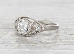 1.02 Carat Edwardian Engagement Ring