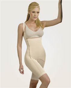 Powernet Body Shaper- Garment manufactured in powernet that enforce a control over the abdomen, hips, waist and legs. Removable and gradual straps that guarantee total comfort. Its design as braless. Zipper for easy dressing and undressing. Interior hooks covered in cotton that guarantee the resistance of the garment. The cotton design enhances and molds the buttocks. The compression rating is high. $99