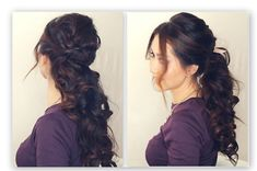 Holiday Half-Up Hairstyle Tutorial   Fancy Curly Ponytail