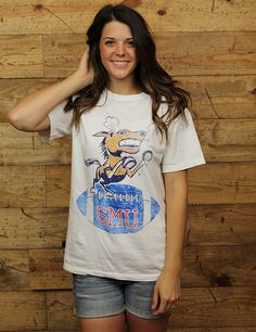 Are you ready for some Mustang football?! GET READY with this Comfort Colors Southern Methodist t-shirt!