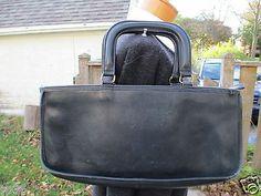 VTG COACH NAVY BLUE Bonnie Cashin ATTACHE Satchel Briefcase Bag PURSE TOTE 1960s