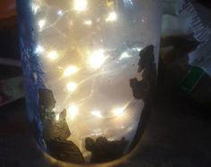 Vinilo Navidad escena tarro de masón por UpstairsOriginals en Etsy