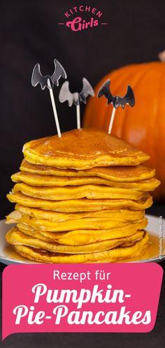 Rezept für Pumpkin-Pie-Pancakes Pancakes, Pimp, Breakfast, American, Food, Pumpkin Jam, Pumpkin Pasta, Cabbage Recipes, Beetroot