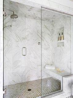 2 person shower | floor to ceiling shower doors