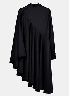 Sleeve Loose Fit Cape-Style Blouse Shirt Asymmetrical pleated Skirt Cotton M. -Bat Sleeve Loose Fit Cape-Style Blouse Shirt Asymmetrical pleated Skirt Cotton M. Pleated Skirt, Dress Skirt, The Dress, Casual Dress Outfits, Skirt Outfits, Hijab Fashion, Fashion Dresses, Jacket Dress, Shirt Dress