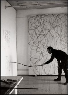 Brice Marden at work
