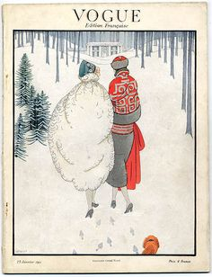 Vogue, vintage Christmas cover (definitely 1920s!)