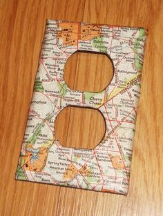 Decoupage light switch plate.  Just a reminder that I want to do this.  Ed. to fix typo.