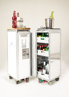 The White and Silver is HOT! Inspiration for my Galley Cart  Small Custom Galley Carts by AviationAfterlife on Etsy, $150.00