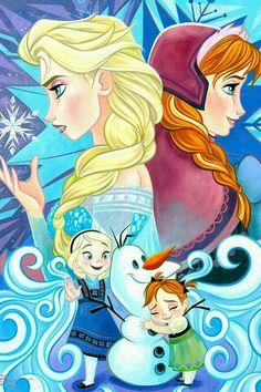 Elsa e Anna crianças