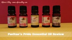 Puritan's Pride Essential Oil Review & Mother's Day Giveaway!! (ends 5/9)  FIVE OILS UP FOR GRABS!!!