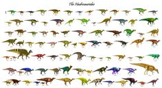 All duck-billed dinosaurs to date: 92 genera.