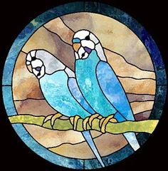 Boehm Stained Glass Blog: Parakeet Stained Glass