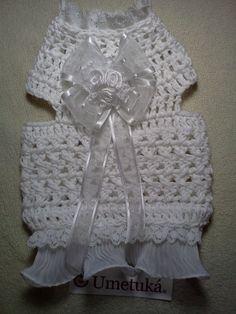 Cotton corchet dress for pets, vestido en corchet para mascotas..