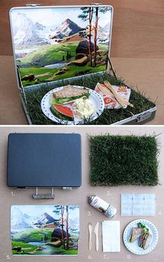 "How to have a picnic in a suitcase! thingsinmybag: "" I know this isn't an original photo. But I saw this floating around on Tumblr and it reminded me of your blog, especially what with the..."
