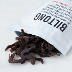 Quirky jerky from South Africa. Long Car Trips, Biltong, Grass Fed Beef, Beef Jerky, Packaging Design Inspiration, Food 52, Corn Syrup, Inspirational Gifts, Coriander