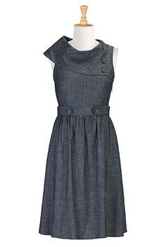 Vintage denim chambray dress