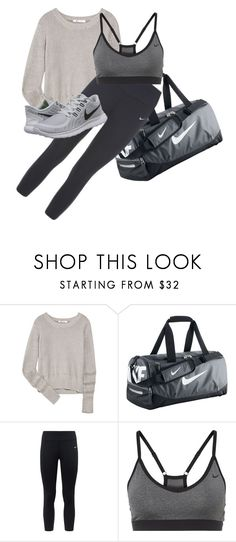 """""""Work out"""" by xxabbeybearxx ❤ liked on Polyvore featuring T By Alexander Wang and NIKE"""