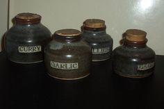 Iconic New Zealand potter the late LEN CASTLE pottery spice containers Spice Containers, Cold Brew, Coffee Bottle, Brewing, Spices, Lens, Castle, Porcelain, Pottery
