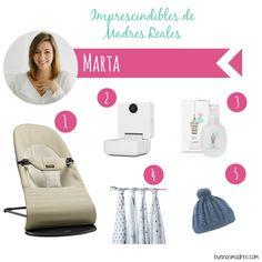 """Hoy @martamoya.es nos cuenta cuales han sido sus imprescindibles: """"Hola! Soy Marta, mamá de Javier de 3 años y Paula de 2 meses. Me dedico al mundo de la cosmética y soy blogger de belleza y estos son mis 5 imprescindibles:  1- Hamaca @babybjorn 2- Smart Baby Monitor Withings para #Apple 3- Colonia #Suavinex @madresfelices 4- Muselinas de @adenandanais  5- Jerseys, capotas, gorritos y bufandas hechas a mano por @terrymarcan"""