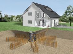 Roth SolarGeo System the first system that combines solar energy with geothermal heat pumps and radiant heating::