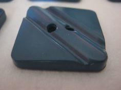 10 Stück Jackenknöpfe Quadratisch,Farbe Blau,Seitenlänge ca.23 mm,Neu,Lübecker Knopfmanufaktur von Knopfshop auf Etsy