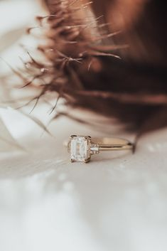 Emerald Cut Moissanite, Moissanite Wedding Rings, Vintage Engagement Rings, Wedding Engagement, Wedding Goals, Dream Wedding, Unique Wedding Bands, Wedding Things, Emerald Cut Rings