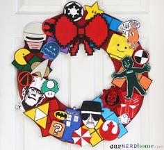 DIY Fandom Holiday Wreath