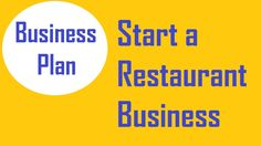 Start a Restaurant Business | Restaurant Business Plan |