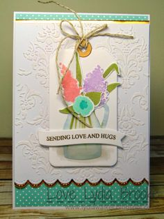 Love Lydia Brooke: Sending Love And Hugs. Glimmering Gold AALD metal sheet