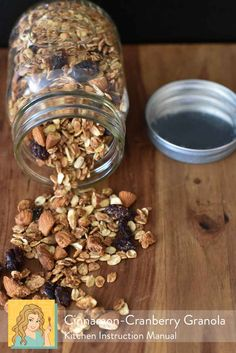 Cinnamon Cranberry Granola | a #cleaneating breakfast recipe for #healthyliving | Kitchen Instruction Manual