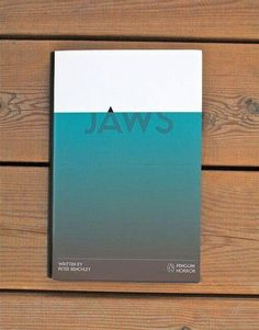 Graphic design inspiration Jaws from the Penguin Horror book series by Tom Lenartowicz, book design, movie poster, editorial design, movie Graphisches Design, Buch Design, Layout Design, Print Design, Clever Design, Good Design, Creative Book Cover Designs, Design Trends, Design Ideas