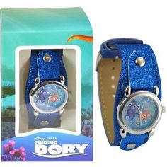 Finding Dory Watch with Metal Face & Glitter Band