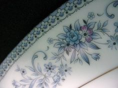 Blue Hill Noritake china--that bit of purple makes for fun decorating possibilities