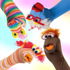 At Home with Sara Says: Dollar Store Crafts - Sock Puppets