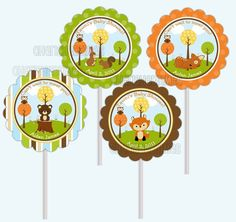 Woodland Forest Friends Animals Baby Shower by CherishedTimes, $14.00