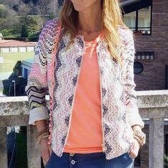 Ethnic Jacket Pompom Multicolor Pink