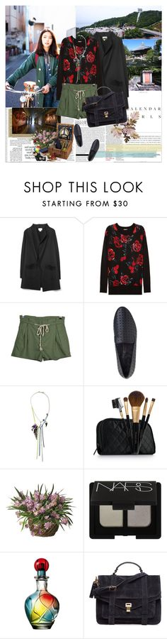 """Travelling Japan,Naruto"" by rainie-minnie ❤ liked on Polyvore featuring moda, Kerr®, M.Patmos, DKNY, Matiko, Elizabeth Arden, NARS Cosmetics, Proenza Schouler e modern"