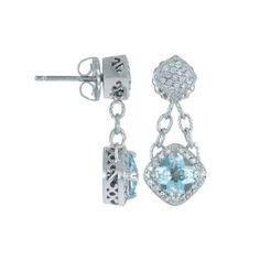 ice blue earrings ♥