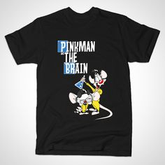 Pinkman and the Brain T-shirt by Inner Coma Clothing Co.
