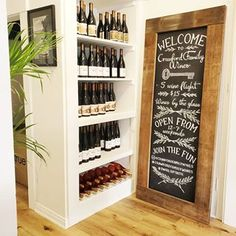 chalk by chels(ea) ( Chalk Art, Ea, Wine Rack, Photo And Video, Videos, Photos, Instagram, Home Decor, Bottle Rack